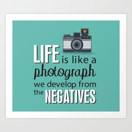 Camera Quote Art Print