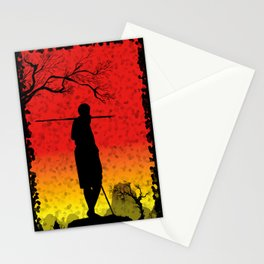 The African Warrior Stationery Cards