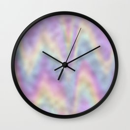 Holographic Iridescent Rainbow Chevron Foil Wall Clock