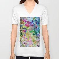 circles V-neck T-shirts featuring Circles by John Turck