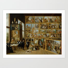 The Art Collection of Archduke Leopold Wilhelm in Brussels Art Print