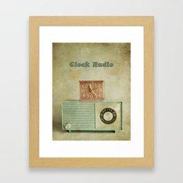 retro clock radio Framed Art Print