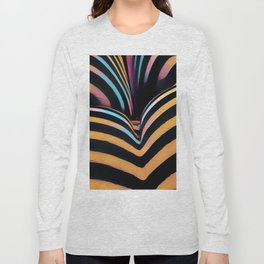 2026s-AK Striped Body Curves by Chris Maher Long Sleeve T-shirt