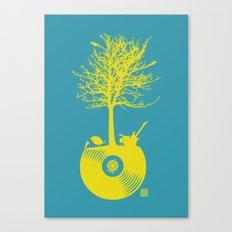 Vinyl Tree Canvas Print