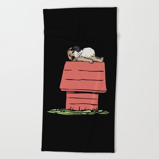PUG HOUSE Beach Towel
