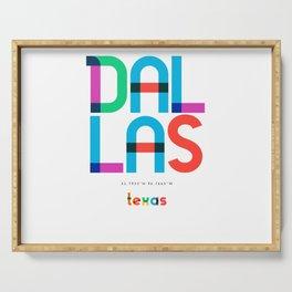 Dallas Texas Mid Century, Pop Art, Serving Tray