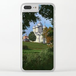 Landscape with Saint Sophia Cathedral in Vologda Clear iPhone Case