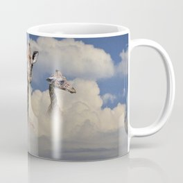 Heads above the Clouds with 3 Giraffes Coffee Mug