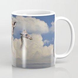 Heads above the Clouds with 3 Giraffes Coffee Mug