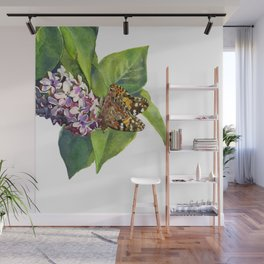Butterfly & Lilacs Wall Mural