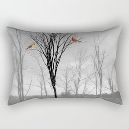 Red birds Cardinals Tree Fog A112 Rectangular Pillow