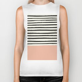 Peach x Stripes Biker Tank