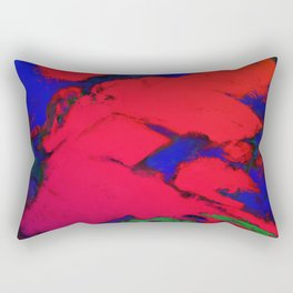 Red erosion Rectangular Pillow
