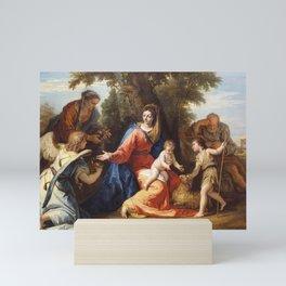 Sebastiano Ricci - The Holy Family with Saint Elizabeth, Saint John the Baptist and an Angel Mini Art Print