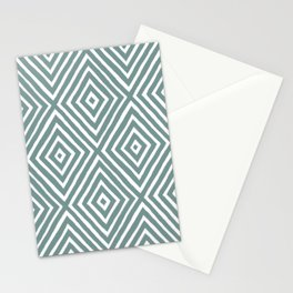 diamond painted-blue Stationery Cards