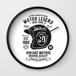 ultimate manufacturing motor legend Wall Clock