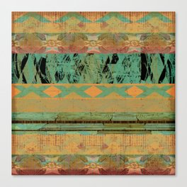 381 8 Rustic Tribal Southwest Pattern Canvas Print