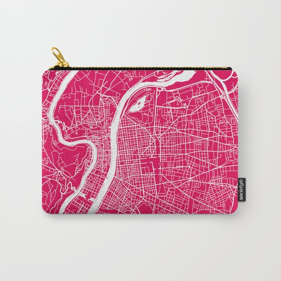 Rome map raspberry Carry-All Pouch