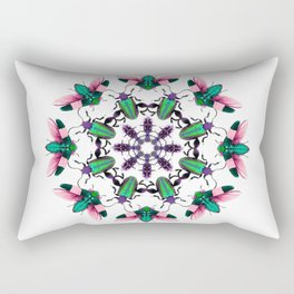Bug Mandala 2 Rectangular Pillow