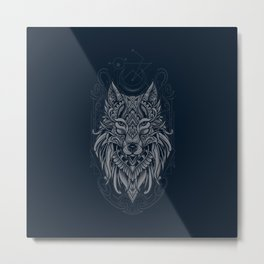 Wolf of North Metal Print