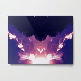 Neon Pyramid Metal Print