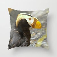 puffin Throw Pillows featuring Puffin... by Nature In Art...