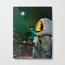 Between The Moon And The City Metal Print