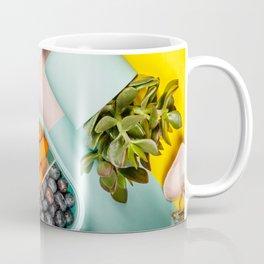 Healthy lunch, notebook, plant Coffee Mug