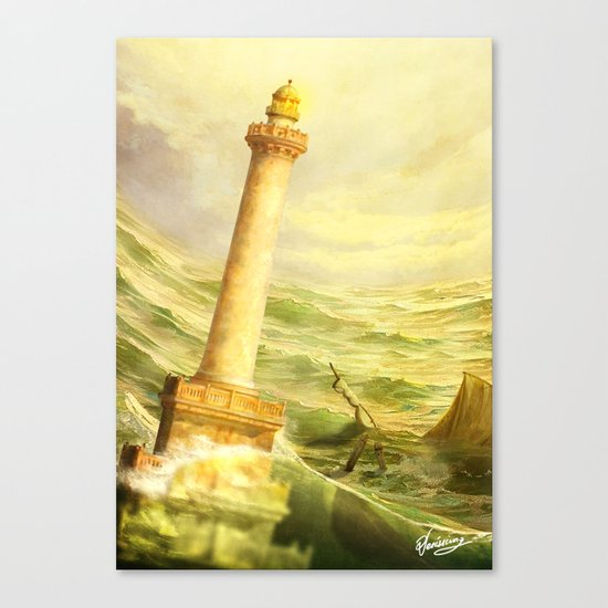 The Fall of Alexandria Canvas Print