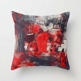 Hood Monster Throw Pillow