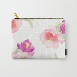 WATERCOLOR FLORAL PILLOW, ROSE PILLOW, ROSE WATERCOLOR Carry-All Pouch