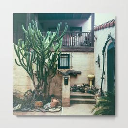 Cactus Casita Metal Print