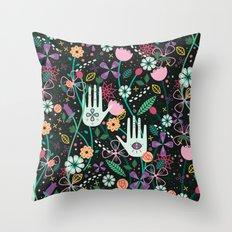 Botanical Hands Throw Pillow