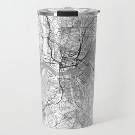 Cincinnati Map Line Travel Mug