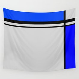 Cross Lines in blues Wall Tapestry