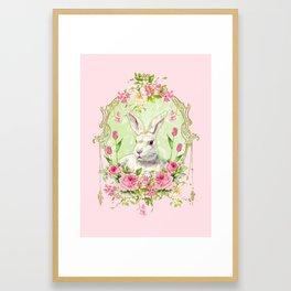 Spring Bunny Framed Art Print