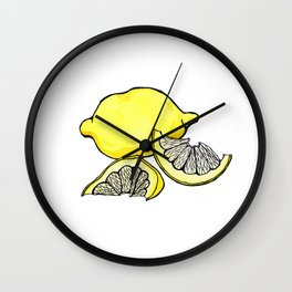 Trois Citrons 3 Wall Clock