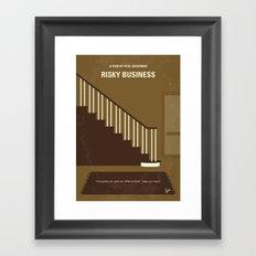 No615 My Risky Business minimal movie poster Framed Art Print