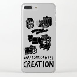 Weapons Of Mass Creation - Photography (clean) Clear iPhone Case