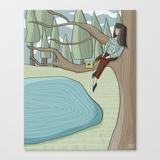Reading Nook Canvas Print
