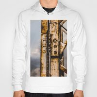 industrial Hoodies featuring Industrial landscape by vientocuatro