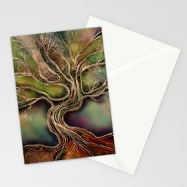 Tree of life - fall shadows Stationery Cards