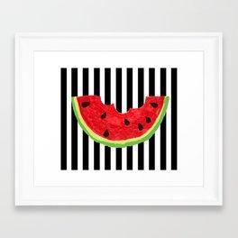 Cool Watermelon Framed Art Print