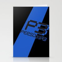 persona Stationery Cards featuring Persona 3 by BlackHeartedInk