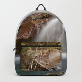 Waterfall in a mountain river Backpack