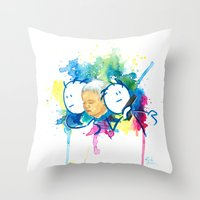 guardians Throw Pillows featuring Guardians by Krister Vikstrom