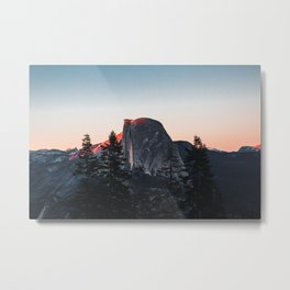 Last Light at Yosemite National Park Metal Print