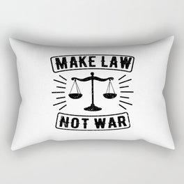 Make Law Not War Lawyer Judge Retro Rectangular Pillow