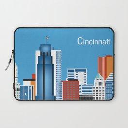 Cincinnati, Ohio - Skyline Illustration by Loose Petals Laptop Sleeve