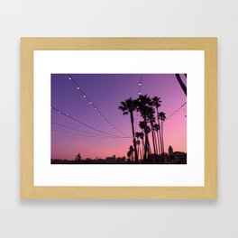 Lit Sunset Framed Art Print